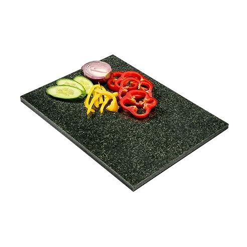 abdeckung fr arbeitsplatte schneidebrett aus granit dunkel gro - Kchen Mit Weien Schrnken Und Arbeitsplatten Aus Granit