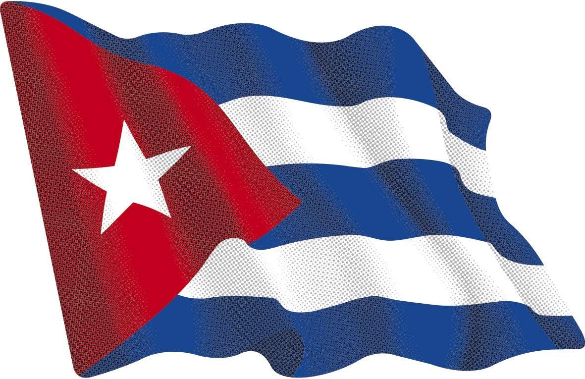 Artimagen Aufkleber Flagge Wellen Kuba Medium 80 x 60 mm