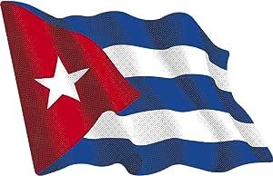 Artimagen Pegatina Bandera Ondeante Cuba pequeña 65x50 mm.: Amazon.es: Coche y moto