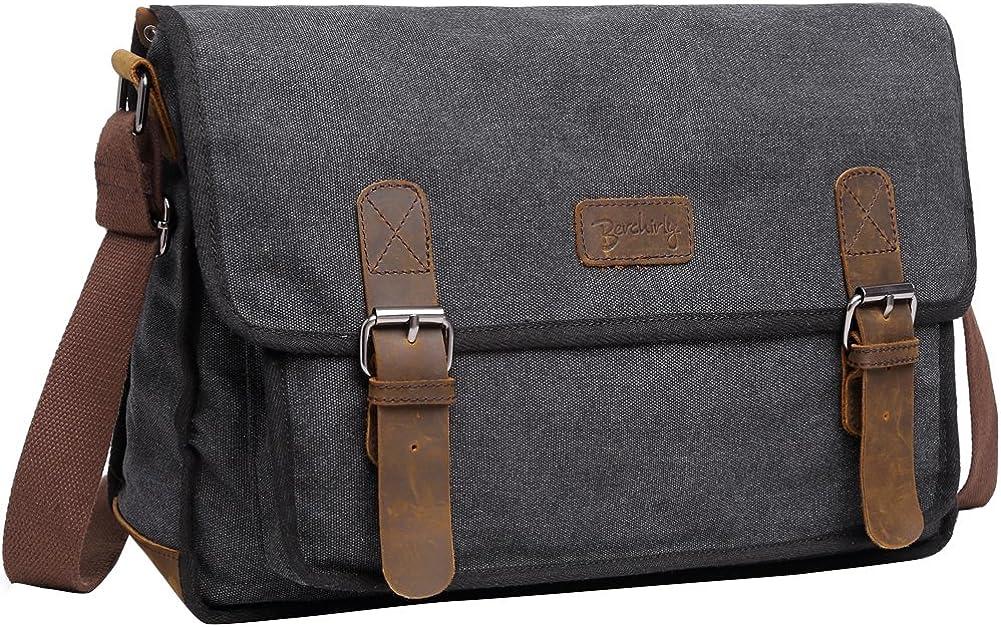 """Vintage Military Men Canvas Messenger Bag For 13.3-17""""Laptop"""