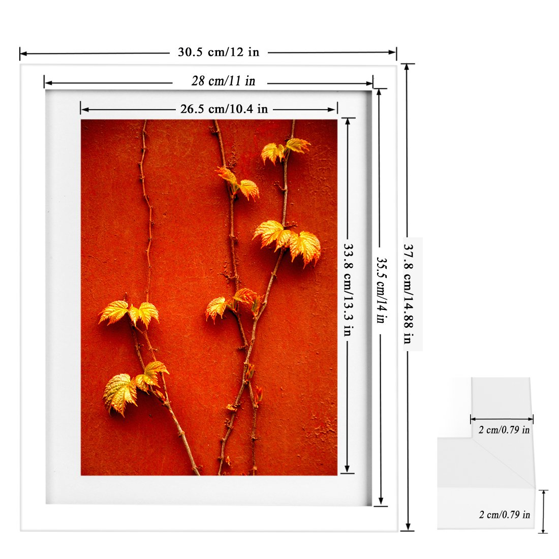 Amazon.com - BOJIN 11x14 Inch Wooden Picture Frames, Diploma Photo ...