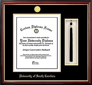 Campus Images SC995PMHGT University of South Carolina Tassel Box and Diploma Frame, 14