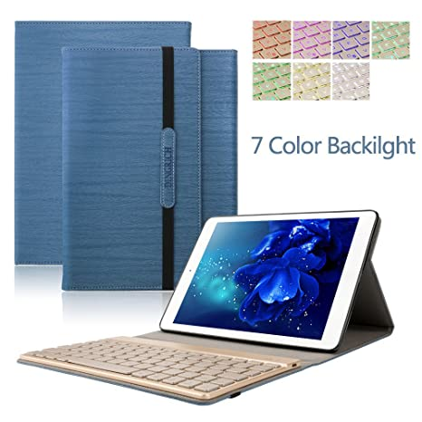 iPad 2 iPad 3 iPad 4 Teclado Funda, Dingrich Bluetooth inalámbrico QWERTY Teclado Case Pare
