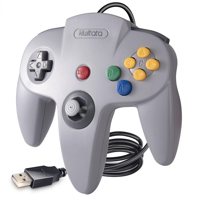 Amazon com: kiwitatá N64 Classic 64 USB Controller,Retro N64 Bit
