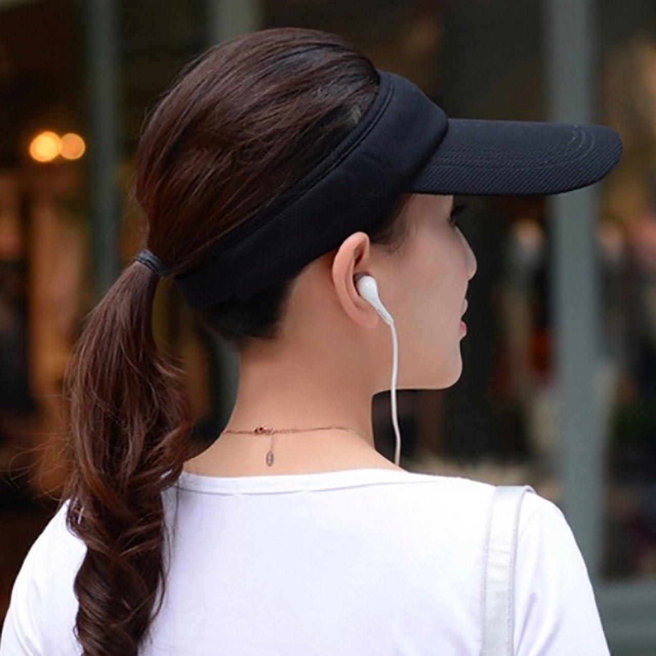 ONE LIMITATION(ワン リミテーション) バイザー サンバイザー 帽子 つば広 紫外線 UVカット スポーツ レディース CP029 (01 ブラック)