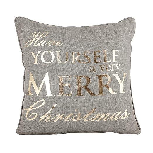 Dibor - Cojín Decorativo para Navidad, 100% algodón, Color ...