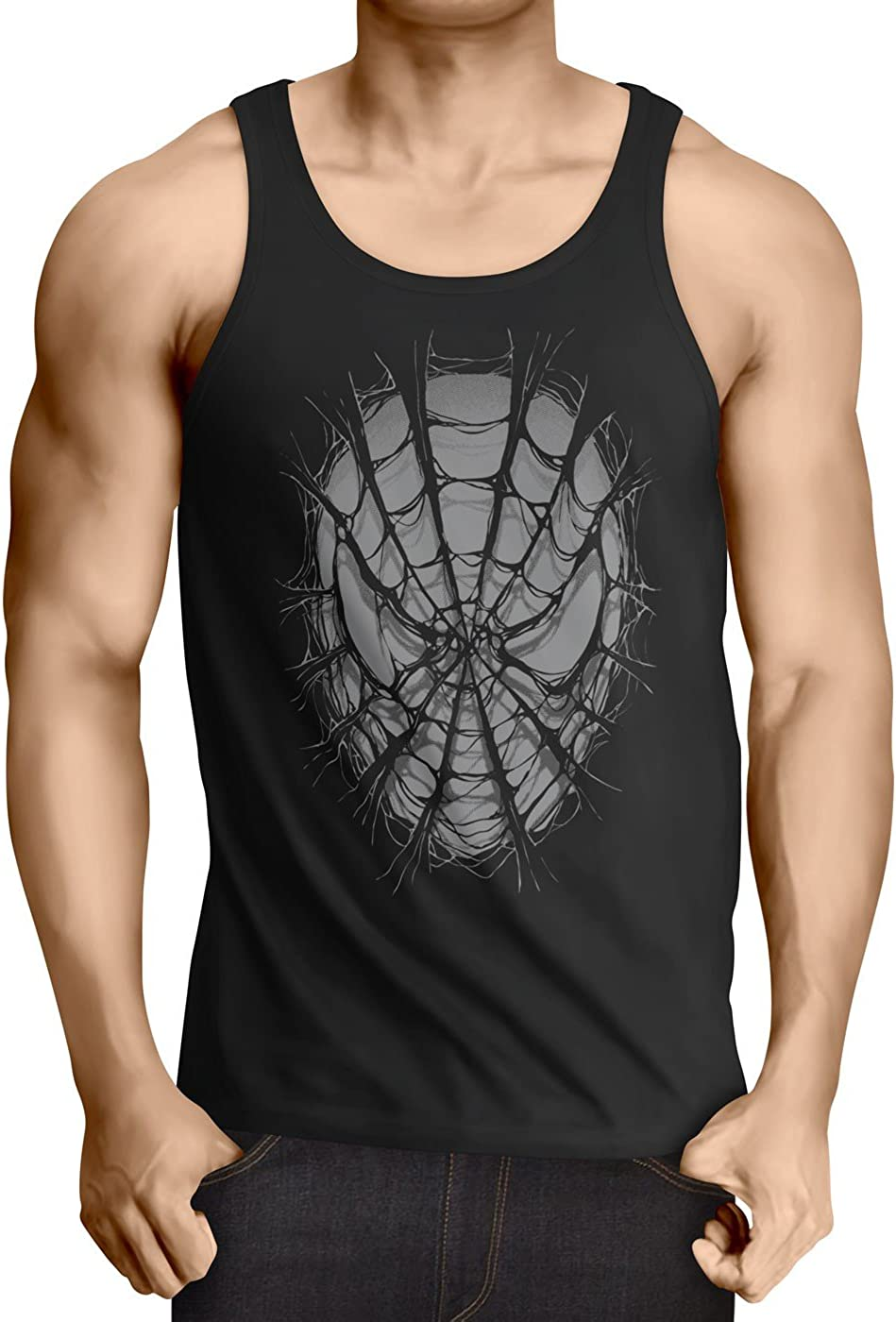 style3 Spider Web T-Shirt Homme man toile daraign/ée the amazing comic