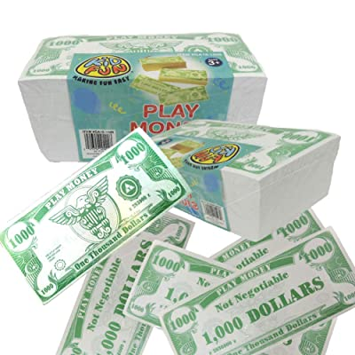 U.S. Toy Novelty Play Phoney 1000 Pack Money Fake $1000 Dollar Bills: Toys & Games