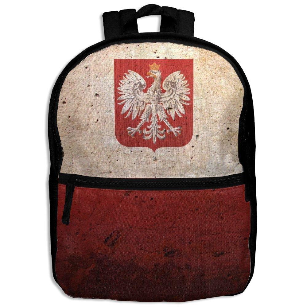 ヴィンテージスタイルポーランドフラグKidsバックパックforボーイズGirls Fit学校バックパック   B079ZX5FBS