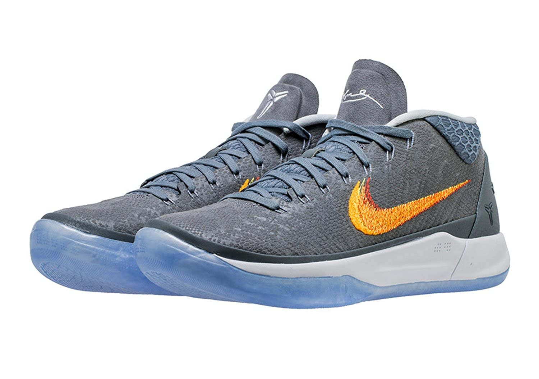 Nike Men s Kobe A.D. Basketball Shoes (13 Chrome/Habanero Red)