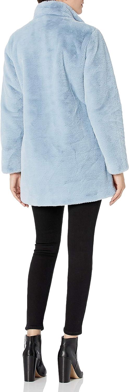 Calvin Klein womens Womens Chevron Faux Fur Coat at  Women's Coats Shop