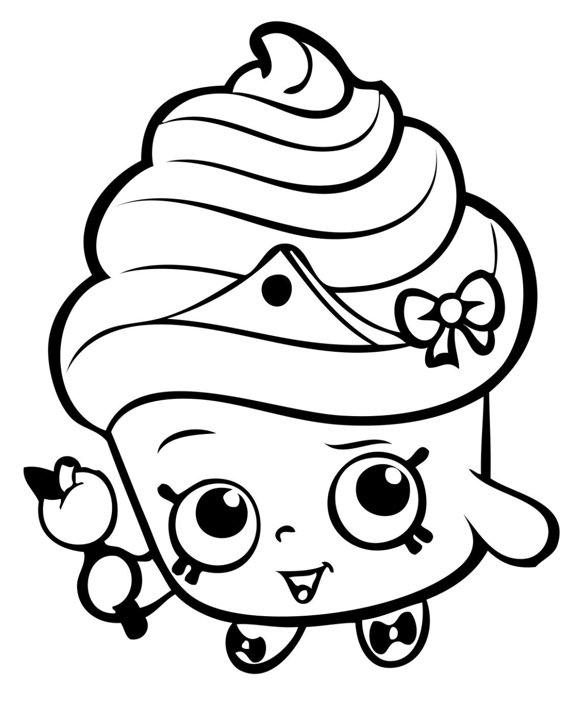 "Cupcake Queen Shopkins Black 6"" Car Truck VINYL Decal Art"