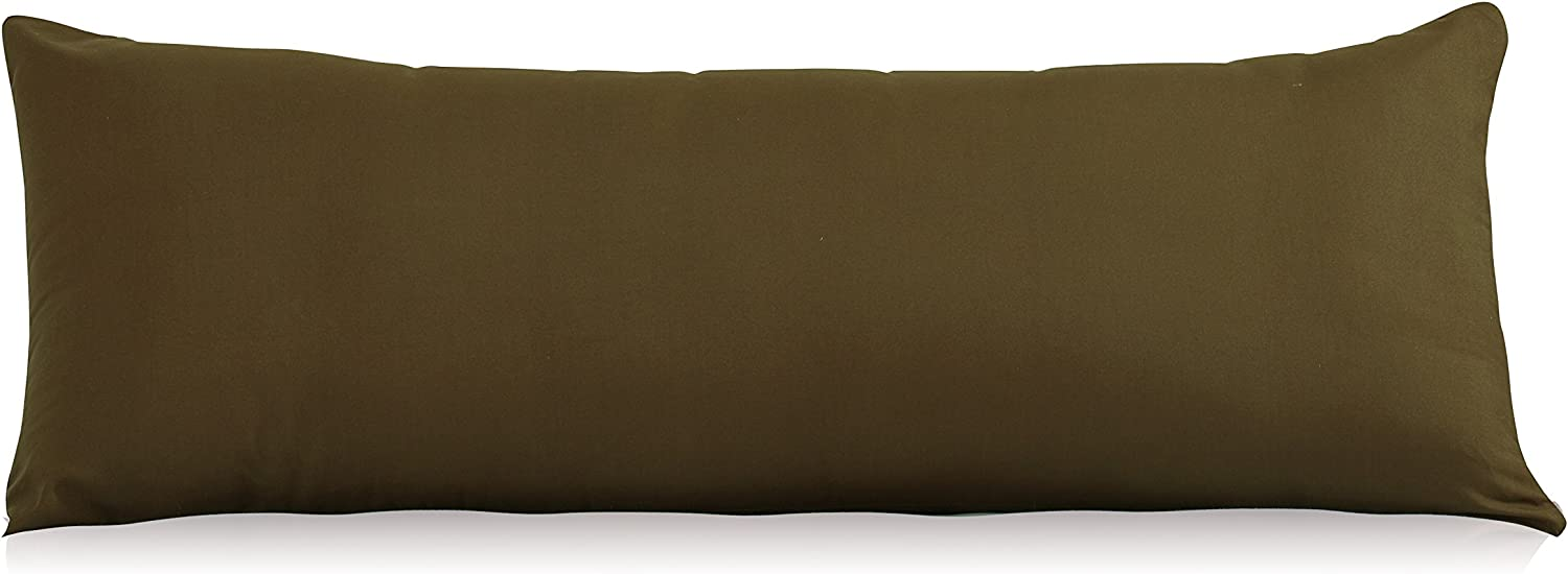 """EVOLIVE Ultra Soft Microfiber Body Pillow Cover/Pillowcases 21""""x54"""" with Hidden Zipper Closure (Coffee, Body Pillow Cover 21""""x54"""")"""