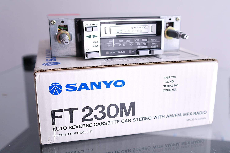 Sanyo Classic Car Radio FT230M Auto Reverse Cassette Car Stereo Retro Vintage NOS