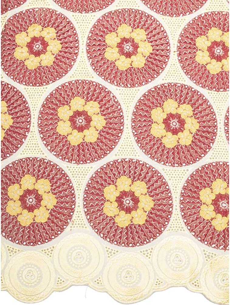 Premier African Fabric Exclusive Swiss Voile Lace 100/% Cotton Gold 82005-07