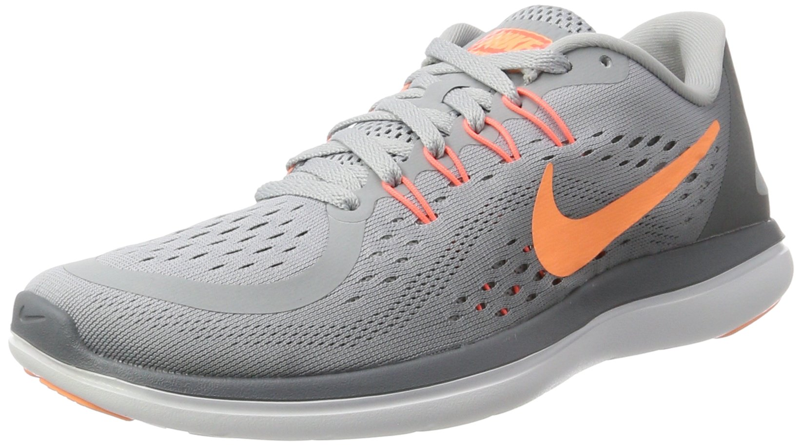 NIKE Women's Flex 2017 RN Running Shoe Wolf Grey/Sunset Glow/Cool Grey Size 9.5 M US