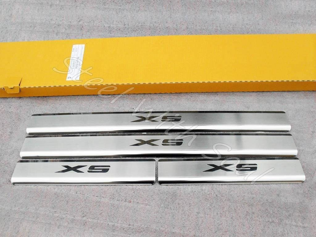 specialty shop N.Niko Door sill Lining Memphis Mall Chrome Cover BMW for Scuff Plate X5