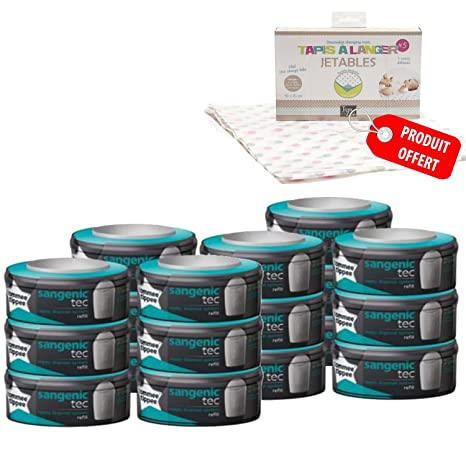 Tommee Tippee - Sangenic- Pack 18 unidades + 10 tapetes ...