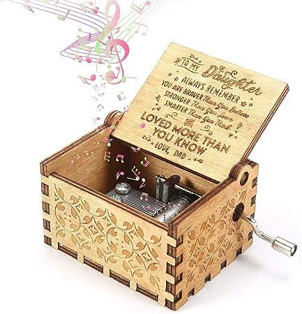 Flow.month You Are My Sunshine Cajas de música de Madera, grabadas con láser, Vintage, Caja Musical de Madera, Regalos para cumpleaños, Navidad, día de San Valentín: Amazon.es: Hogar