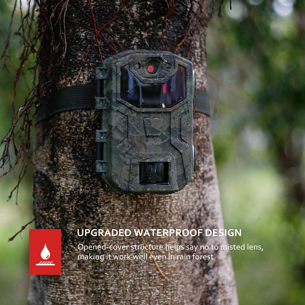 Victure Trail Camera 16MP 1080 HD 2.0'' LCD Game Cam Night Vision Motion Activated with Upgrade Waterproof Design 38Pcs IR LEDs No Glow for Wildlife Hunting and Surveillance by Victure (Image #6)