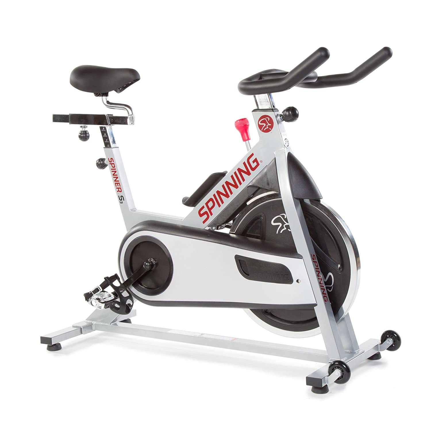 Spinner S3 Indoor Cycling Bike with Four Spinning DVDs, Silver