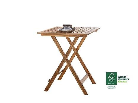 SAM® Tavolo da giardino in legno di acacia, tavolo da balcone circa ...