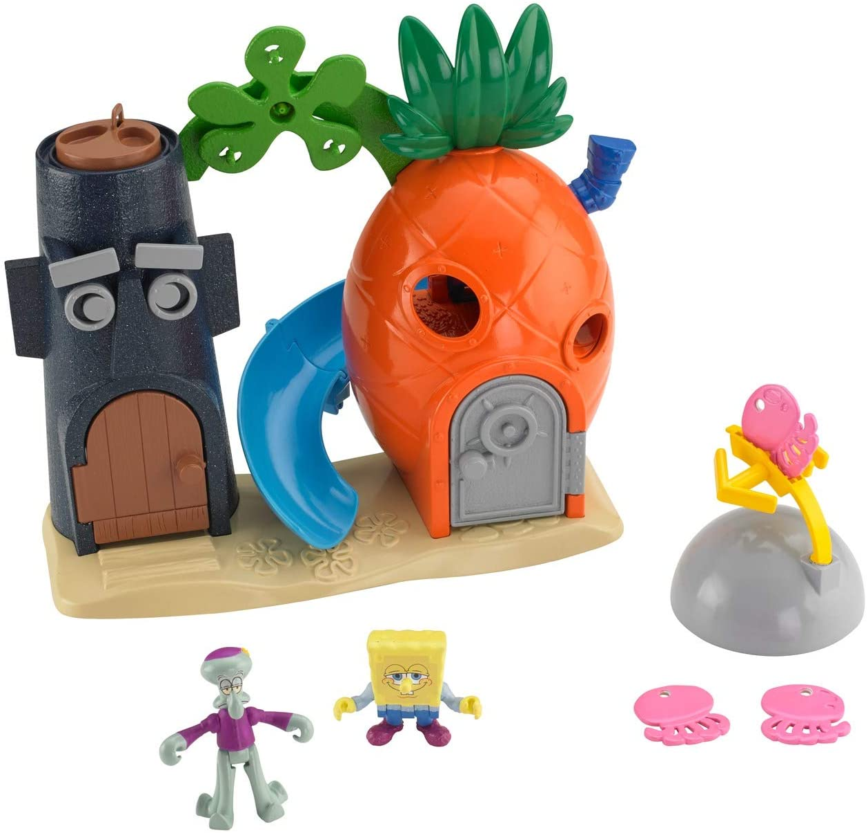 Fisher-Price Imaginext SpongeBob Bikini Bottom Playset, Preschool Toy for Kids 3 Years and Up, Amazon Exclusive