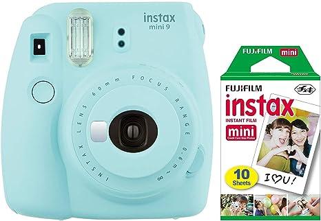Fujifilm Instax Mini 9 - Cámara instantánea (azul hielo) con mini film pack: FUJIFILM: Amazon.es: Electrónica