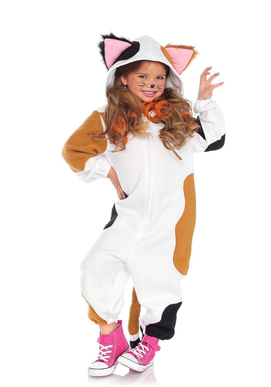 Leg Avenue Kinder Katzen Kostüm Cozy Calico Cat Onesie S/M (114-132 cm) C4910805101