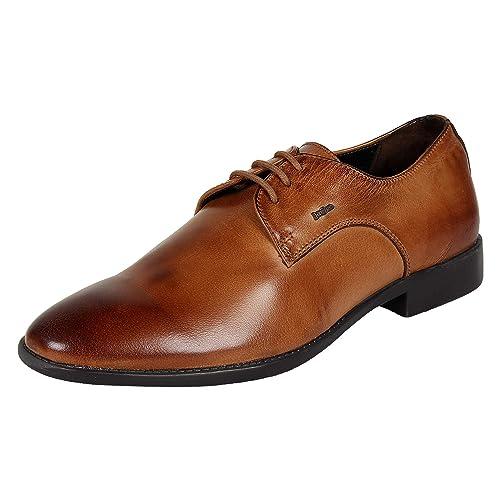 f1eb608232ba LOTUS BAWA Men s Tan Formal Semi Brogues Genuine Leather Dress Shoes -10UK