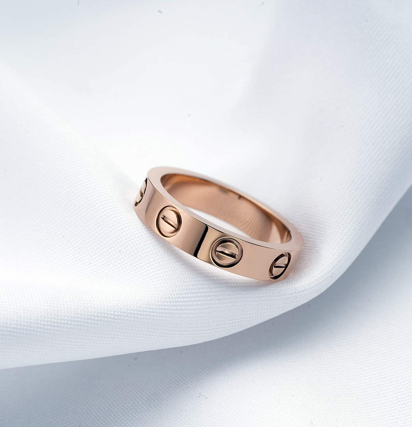 A/&B Love Ring Lifetime Promise with Screw Design Best Lover Rings Gifts for Lover