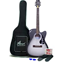 Hovner 150BW Matt Cutaway Rosewood Fretboard Acoustic Guitar With Bag,Strap,1 Set of Extra Strings and 2 Picks By K-Retail
