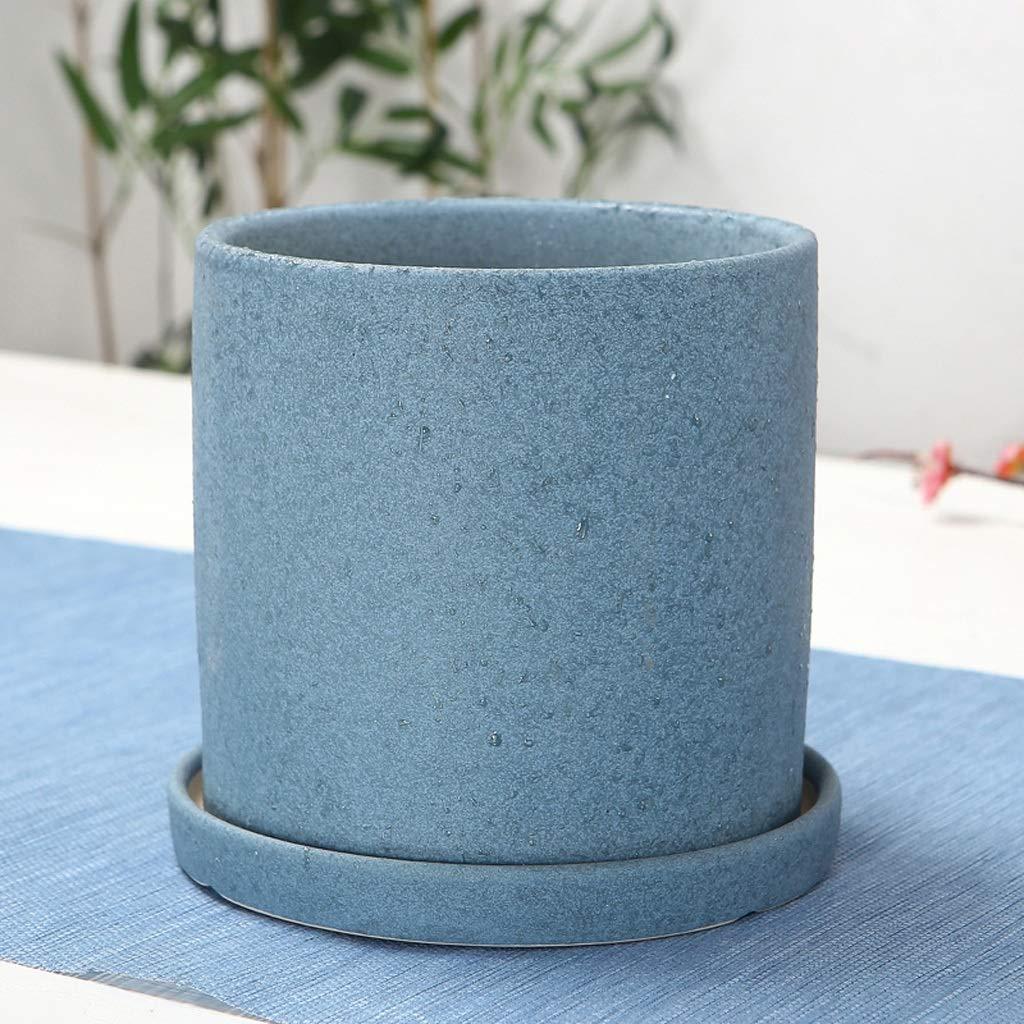 HLJ Vaso da Fiori Creativo in Ceramica per Interni Vaso da Fiori Semplice per balconi (Dimensione   XL 20.5  20.5cm)