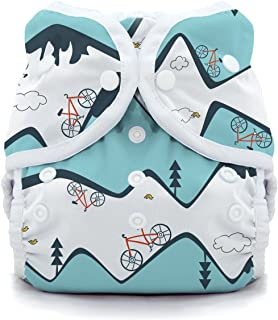 product image for Thirsties Duo Wrap Cloth Diaper Cover, Snap Closure, Mountain Bike Size Two (18-40 lbs)