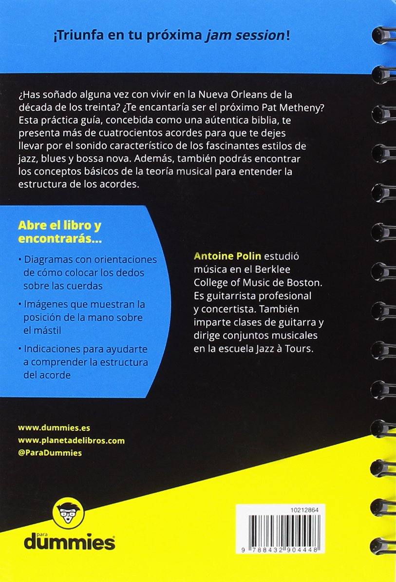Acordes de guitarra blues/jazz para Dummies: Amazon.es: Polin ...