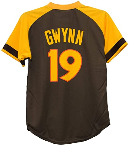 official photos ddcda 08714 Majestic Tony Gwynn San Diego Padres #19 Youth Cool Base Cooperstown Jersey
