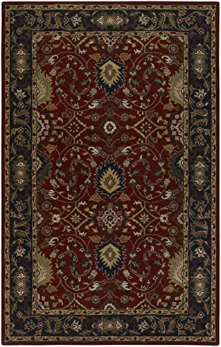 Caesar Red Black Rug Rug Size 6 x 9