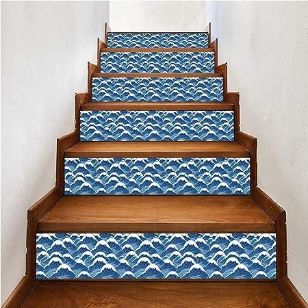 WJX 6PCS pisadas de Escalera de casa, alfombras de Paso de Alfombra Antideslizante, alfombras Adhesivas Alfombra Escalera Alfombra de pisada (18x100cm),C: Amazon.es: Hogar