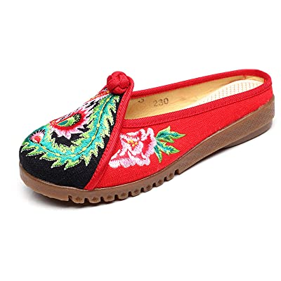 2017 Flowered Embroidered Flat Casual Women's Slippers Summer Chinese Shoes House Linen Facial Makeup In Operas House Slippers