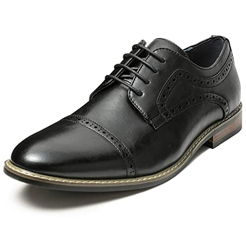 cee916c8baf2c ZRIANG Men's Classic Cap Toe Lace-up Oxford Dress Shoes