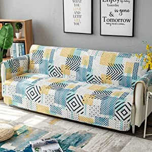 Reversible Sofa Cover, Anti-Slip Couch Cover Quilted Stain Proof Dust-Proof Furniture Protector for Kids, Dogs, Pets-D-58x194cm(23x76inch)