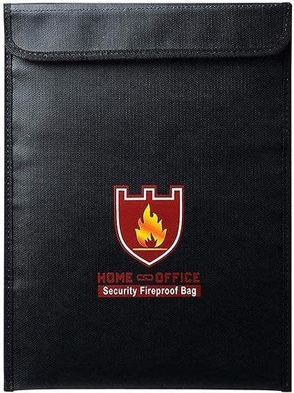 A4 Feuerfeste Tasche Dokumententasche Brandschutztasche Wasserdicht Geldkassette