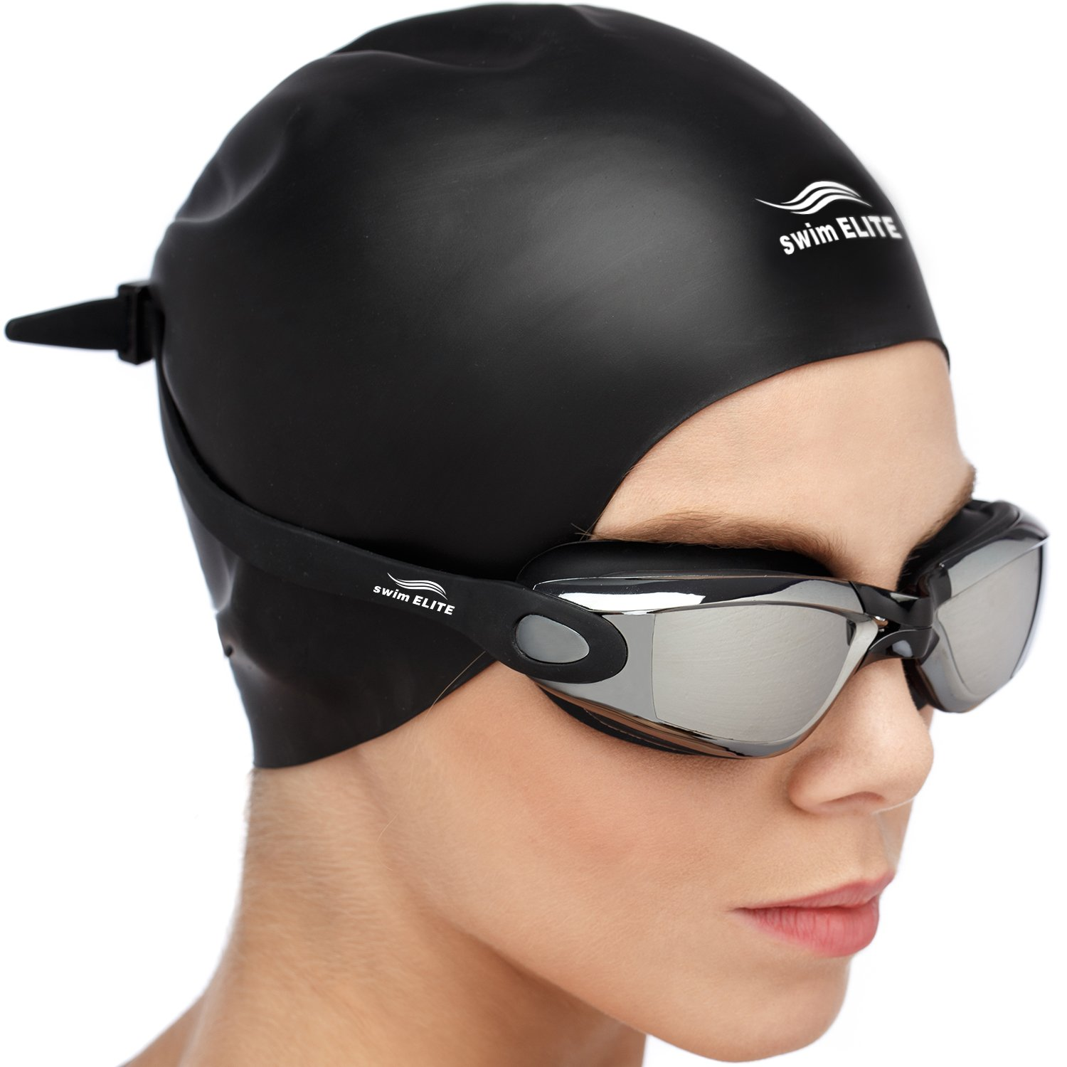 Swim Goggles Under Eye Circles: Swim Goggles + Reversible Swimming Cap + Protective Case