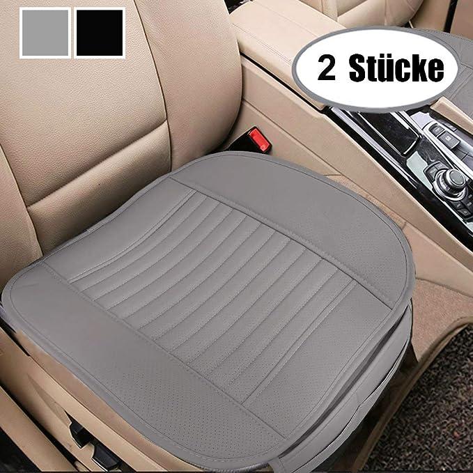 Big Ant Sitzauflagen Auto Universal Sitzbezüge Auto Vordersitze Sitzkissen Auto Wasserdicht Sitzauflage Mit Pu Leder Geeignet Für Meisten Auto 2 Stück Grau Auto