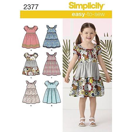 Simplicity 2377 - Patrones de Costura para Hacer Vestidos de niña ...
