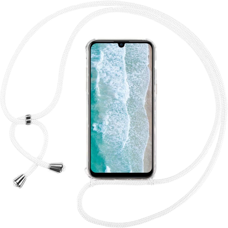 Mi-Case MiCase Funda con Cuerda para Xiaomi Mi 9 Lite//Mi A3 Lite Verde Carcasa Transparente TPU Suave Silicona Correa Colgante Ajustable Collar Correa de Cuello Cadena Cord/ón