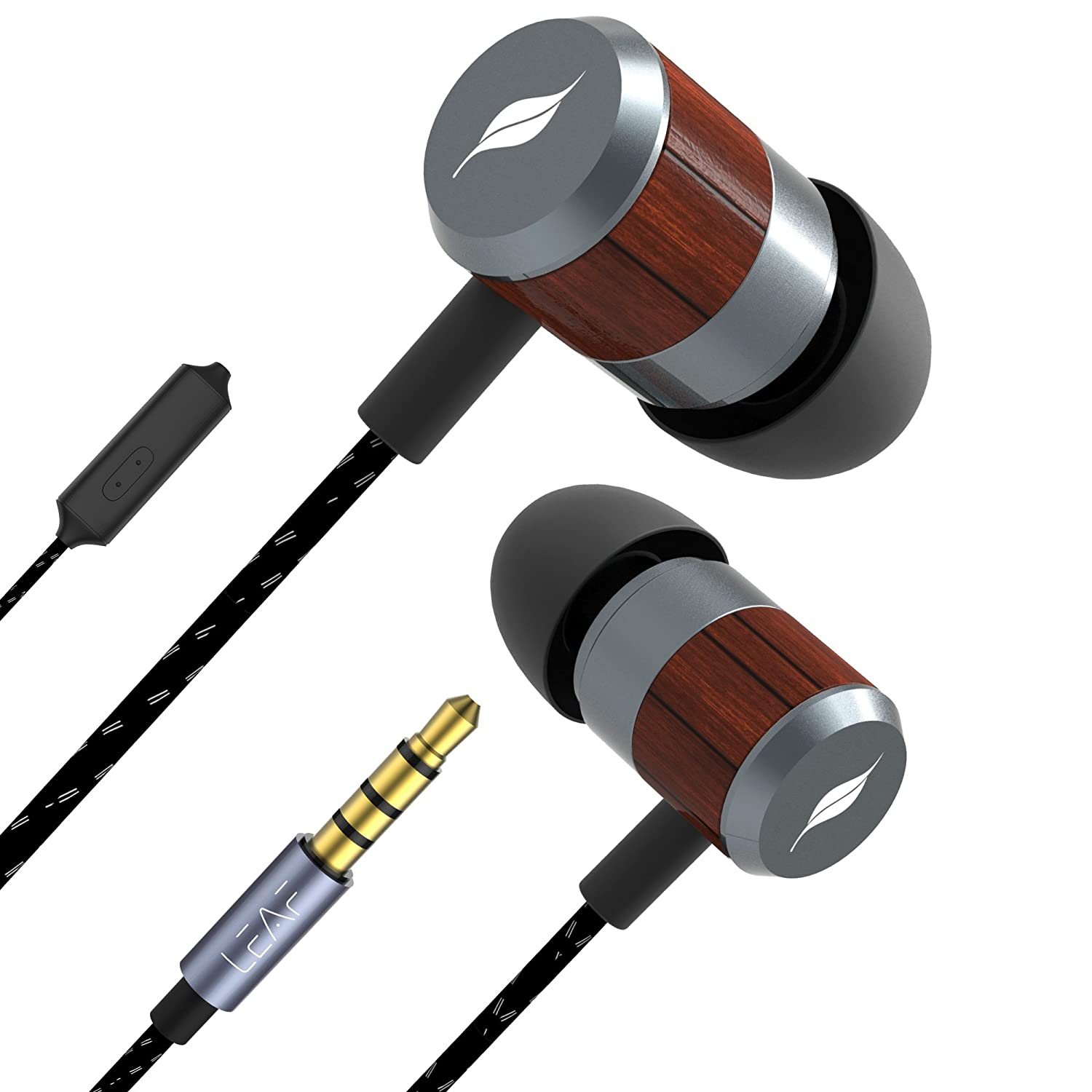 Leaf Bolt Wooden Wired Earphones With Mic And In Line Ceres Classic 225 Gr Electronics