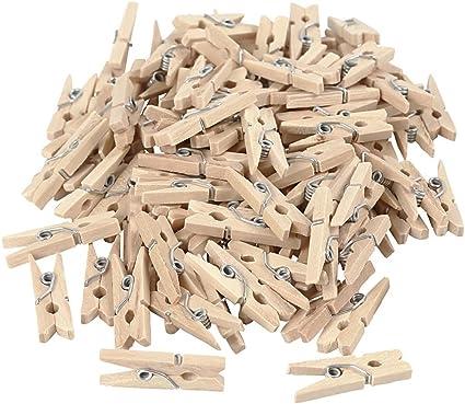 25 kleine Wäscheklammern aus Holz