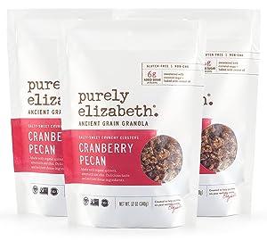 Purely Elizabeth, Cranberry Pecan, Ancient Grain Granola, Vegan, Gluten-Free, non-GMO, 12oz (3 ct.)