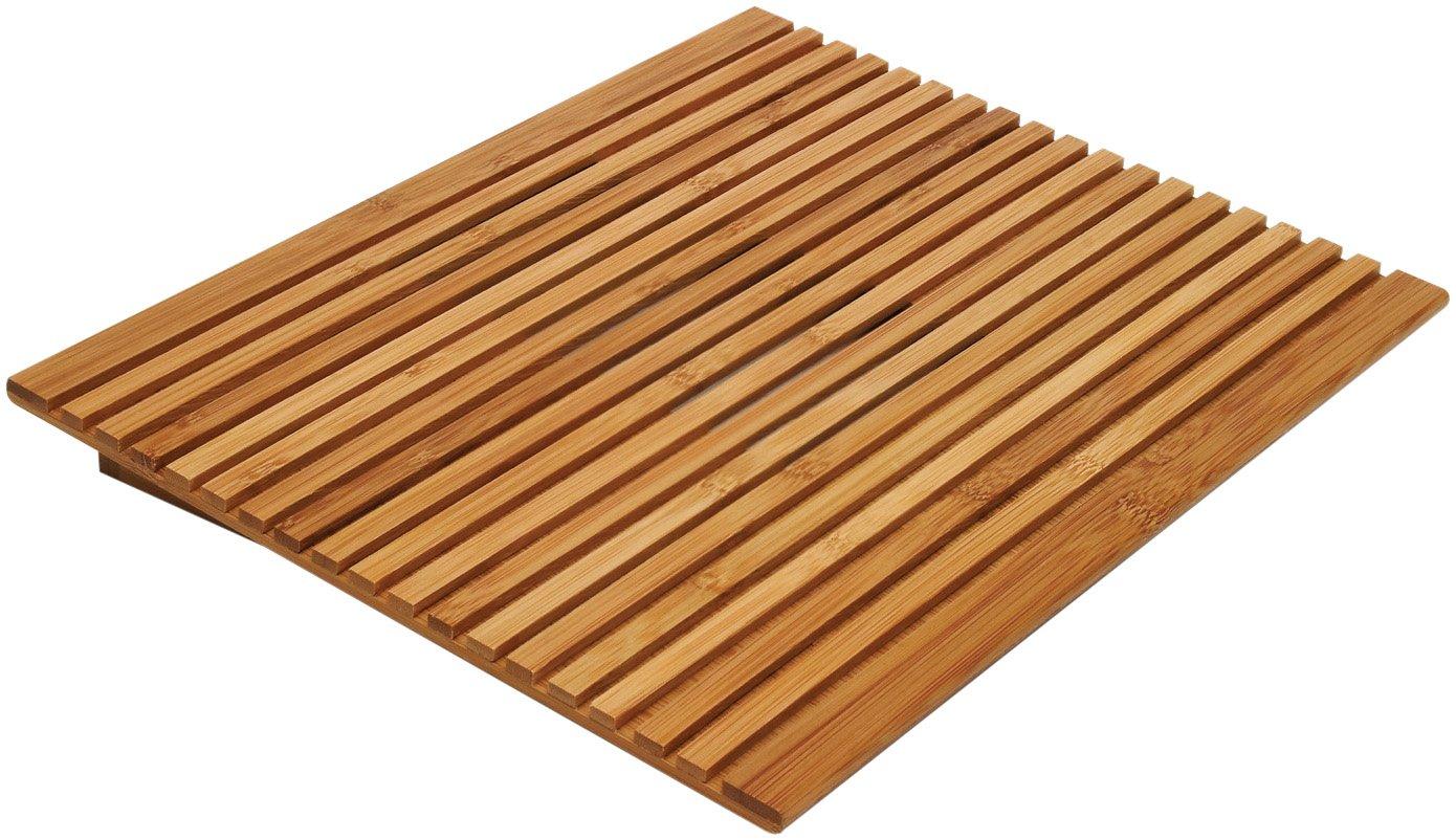 Lipper International 1889 Bamboo Wood Slatted Laptop Stand